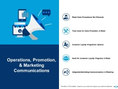 Operations Promotion And Marketing Communications Customer Loyalty Programme Options Ppt PowerPoint Presentation Layouts Slideshow