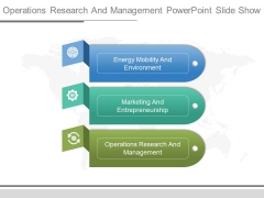 Operations Research And Management Powerpoint Slide Show