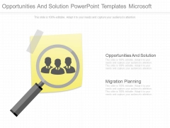 Opportunities And Solution Powerpoint Templates Microsoft