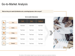 Opportunities And Threats For Penetrating In New Market Segments Go To Market Analysis Mockup PDF