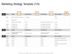 Opportunities And Threats For Penetrating In New Market Segments Marketing Strategy Template Budget Structure PDF