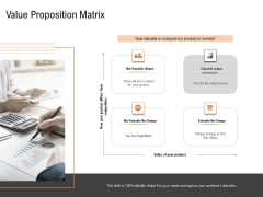 Opportunities And Threats For Penetrating In New Market Segments Value Proposition Matrix Icons PDF