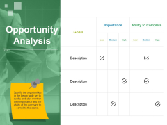 Opportunity Analysis Ppt PowerPoint Presentation Gallery Rules