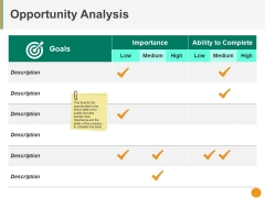 Opportunity Analysis Ppt PowerPoint Presentation Outline Influencers