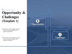 Opportunity And Challenges 1 Ppt PowerPoint Presentation File Display