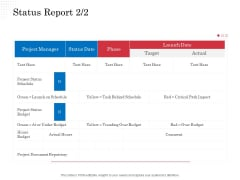 Opportunity Of Project Management Status Report Schedule Ppt Infographic Template Structure PDF