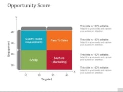 Opportunity Score Template 1 Ppt PowerPoint Presentation Model Template