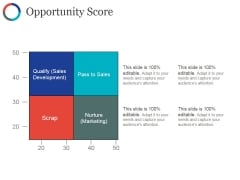 Opportunity Score Template Ppt PowerPoint Presentation Icon Layout