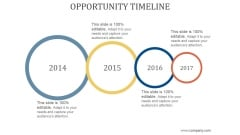 Opportunity Timeline Ppt PowerPoint Presentation Images