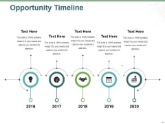Opportunity Timeline Ppt PowerPoint Presentation Pictures Gallery