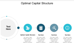 Optimal Capital Structure Ppt PowerPoint Presentation Styles Background Cpb