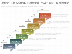 Optimal Exit Strategy Illustration Powerpoint Presentation