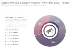 Optimal Portfolio Selection Process Powerpoint Slide Themes