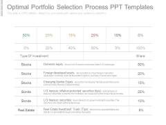 Optimal Portfolio Selection Process Ppt Templates