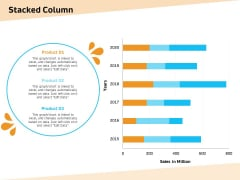 Optimization Of Water Usage Stacked Column Ppt Model Summary PDF