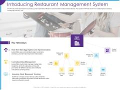 Optimization Restaurant Operations Introducing Restaurant Management System Clipart PDF