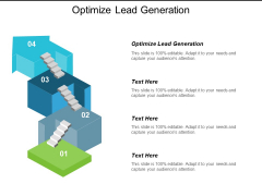 Optimize Lead Generation Ppt Powerpoint Presentation Inspiration Picture Cpb