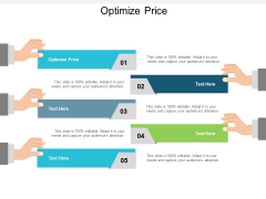 Optimize Price Ppt PowerPoint Presentation Show Graphics Example Cpb
