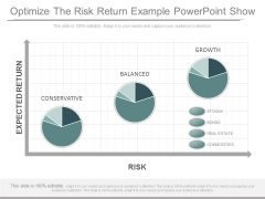 Optimize The Risk Return Example Powerpoint Show