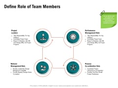 Optimizing Cost During Business Transformation Define Role Of Team Members Ppt PowerPoint Presentation Outline Show PDF
