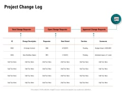 Optimizing Cost During Business Transformation Project Change Log Ppt PowerPoint Presentation Ideas Graphics Example PDF