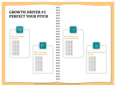 Optimizing Marketing Channel For Profit Increment Growth Driver 1 Perfect Your Pitch Guidelines PDF