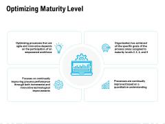 Optimizing Maturity Level Ppt PowerPoint Presentation Outline Microsoft