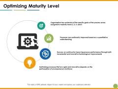 Optimizing Maturity Level Ppt PowerPoint Presentation Show File Formats