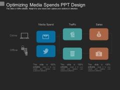 Optimizing Media Spends Ppt Design
