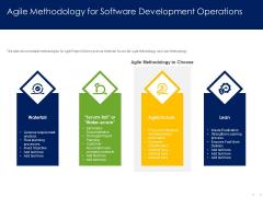 Optimizing Tasks Team Collaboration Agile Operations Agile Methodology For Software Development Operations Brochure PDF
