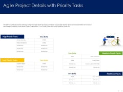 Optimizing Tasks Team Collaboration Agile Operations Agile Project Details With Priority Tasks Guidelines PDF
