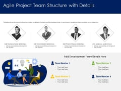 Optimizing Tasks Team Collaboration Agile Operations Agile Project Team Structure With Details Pictures PDF