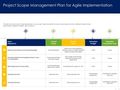 Optimizing Tasks Team Collaboration Agile Operations Project Scope Management Plan For Agile Implementation Topics PDF