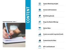 Optimizing The Marketing Operations To Drive Efficiencies Content Portrait PDF