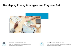 Optimizing The Marketing Operations To Drive Efficiencies Developing Pricing Strategies And Programs Planning Background PDF
