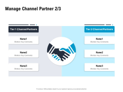 Optimizing The Marketing Operations To Drive Efficiencies Manage Channel Partner Tier Mockup PDF