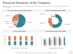 Option Pool Funding Pitch Deck Financial Summary Of The Company Ppt File Themes PDF