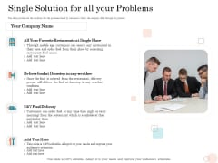 Option Pool Funding Pitch Deck Single Solution For All Your Problems Ppt Show Professional PDF