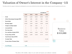 Option Pool Funding Pitch Deck Valuation Of Owners Interest In The Company Capital Inspiration PDF