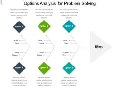 Options Analysis For Problem Solving Ppt PowerPoint Presentation File Portfolio PDF