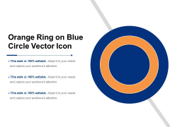 Orange Ring On Blue Circle Vector Icon Ppt PowerPoint Presentation Gallery Topics PDF