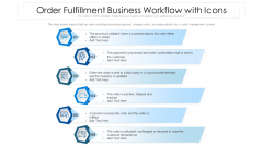 Order Fulfillment Business Workflow With Icons Ppt PowerPoint Presentation Icon Model PDF
