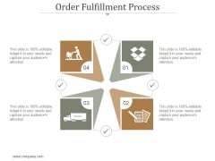 Order Fulfillment Process Ppt PowerPoint Presentation Ideas