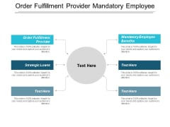 Order Fulfilment Provider Mandatory Employee Benefits Strategic Loans Ppt PowerPoint Presentation Icon Format Ideas