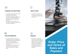 Order Price And Terms Of Sales And Payment Ppt PowerPoint Presentation Gallery Clipart