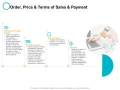 Order Price And Terms Of Sales And Payment Ppt PowerPoint Presentation Infographics Gridlines