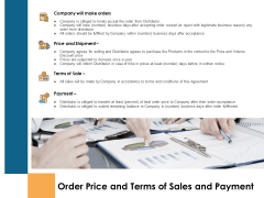 Order Price And Terms Of Sales And Payment Sale Ppt PowerPoint Presentation Styles Designs