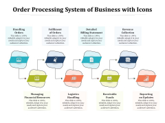 Order Processing System Of Business With Icons Ppt PowerPoint Presentation Portfolio Graphic Images PDF