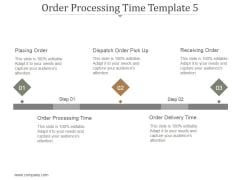 Order Processing Time Template 5 Ppt PowerPoint Presentation Good