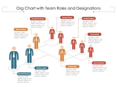 Org Chart With Team Roles And Designations Ppt PowerPoint Presentation File Slides PDF